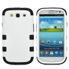 Protective Silicone + PC Case for Samsung Galaxy S3 i9300 - Black + White