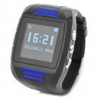 "MP2030 GSM Tracking Wrist Watch w/ 1.4"" TFT, GSM/GPS Positioning, GSM Talking - Black + Blue"