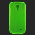 Protective TPU Flip Open Case for Samsung Galaxy S4 Mini i9190 - Green