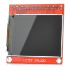 "Elecfreaks TFT01-2.2 2.2"" TFT LCD Module for DIY Arduino & SCM - Red + Black (176 x 220)"