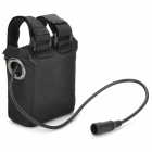 Water Resistant Rechargeable 8-in-1 18650 Battery Pack for Bicycle Light - Black (2S4P)
