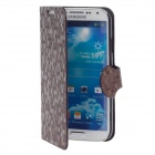 YOTOP Honeycomb Style Protective PU Leather Case for Samsung S4 i9500 - Brown
