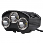 SingFire SF-608 3 x CREE XM-L T6 2400lm 4-Mode White Cycling Bike Headlamp - Black (4 x 18650)