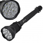 SingFire SF-210B 5-Mode 9000lm White LED Flashlight w/ 12 x CREE XM-L T6 - Black (4 x 26650)