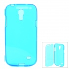 Protective Flip-Open Style Silicone Back Case for Samsung Galaxy S4 Mini i9190 - Blue