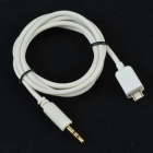 CMI GT-74 Car AUX Audio Output Cable for Samsung Mobile Phone i9300 / i9220 / i9100 - White (19cm)