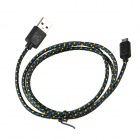 Micro USB Male to USB 2.0 Male Data Sync / Charging Cable - Black + Blue + Yellow (95cm)