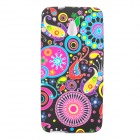 Jellyfish Pattern Protective Silicone Back Case for HTC One Mini M4 - Multicolor