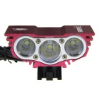 SolarStorm X3 2000lm 4-Mode White Bike Light w/ 3 x Cree XM-L T6 - Deep Pink (4 x 18650)
