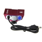 SolarStorm X3 2000lm 4-Mode White Bike Light com 3 x Cree XM-L T6 - Deep Pink (4 x 18650)