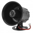 666 12V Car / Motorcycle Siren w/ 6 Different Sounds - Black