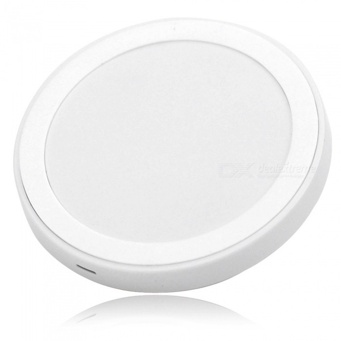 5V 1500mA QI Wireless Charging Transmitter for Samsung + More - WhiteWireless Chargers<br>BrandN/A Quantity1 PieceColorWhite MaterialPlastic Power PlugUSB Compatible ModelsCellphones meet QI standard Input Voltage5 VOutput Voltage5 Output Current1500 mAFeaturesPortable, concise and convenient; Can charge for any cellphones that meet QI standard; Convenient to use; Transmitting distance: 5mm; Charging efficiency: &gt;=70% Packing List1 x Transmitter1 x USB cable (100cm)<br>