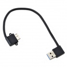 CMI 90 Degree Angle Right USB3.0-A  Male to Micro USB HDD Cable - Black (18cm)