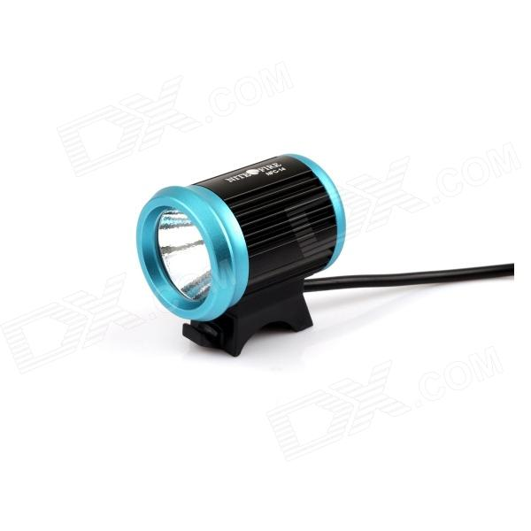 NITEFIRE NFC-14 600lm 4-Mode White Bicyle Headlamp w/ Cree XM-L U2 - Black + Blue (4 x 18650)
