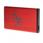 "Aluminum Alloy USB 3.0 2.5 ""SATA External Case Mobile HDD Enclosure - Red"