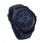 Super Speed V6 V0099 Simulation Racer Quartz Analog Wrist Watch for Men - Black + Blue (1 x LR626)