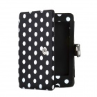 Dot Pattern Element Protective PU Leather Case for Amazon Kindle Paperwhite - Black + White