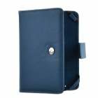 Rubber Band E-Book Protective PU Leather Case for Amazon Kindle Touch - Deep Blue