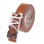 Rich Age LOVE Pattern Fashionable Women's Belt - Copper + Brown