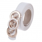 Rich Age Owl Pattern Fashionable Women's Belt - Copper + White