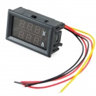 "0.28"" LED Red Dual-Display 3-Digital Current Voltage Meter / Ampere / Voltage Meter - Black (10A)"
