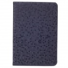 Honeycomb Texture Style Protective PU Leather Case Cover Stand w/ Auto-Sleep for Ipad MINI - Black