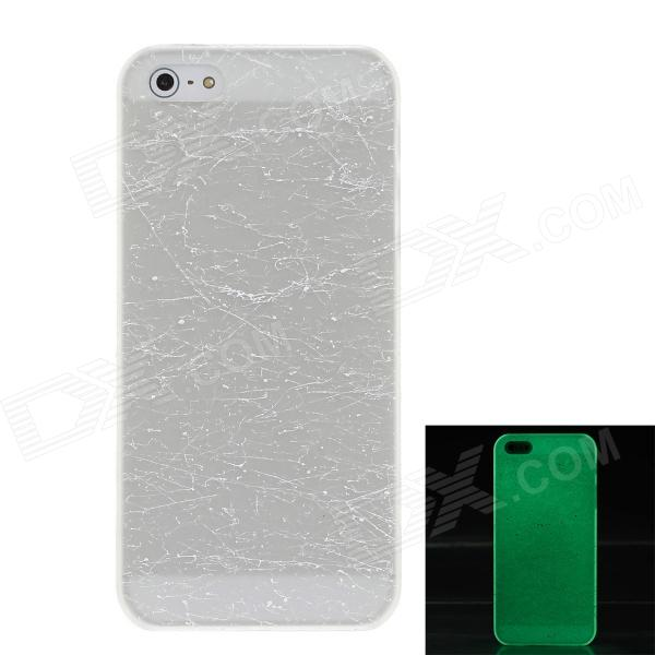 Crack Luminous Style Protective Plastic Back Case for Iphone 5 - White inpower pro 11 5 crack unlimited installation