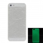 Crack Luminous Style Protective Plastic Back Case for Iphone 5 - White