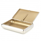 Portable Stainless Steel Tobacco Storage Box - Silver + Golden