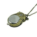 Estilo bonito da coruja analógico Quartz Zinc Alloy Pocket Watch w / Neckchain - Bronze (1 x 626)