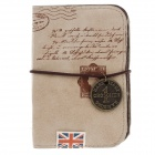 MH13-052 Reminiscence England PU Leather Card Case - Apricot (20 Sheets)