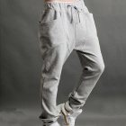 Fashion Leisure Men's Cotton Sports Pants - Grey (Size XL)