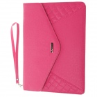 "G-COVER PU Leather Hand Bag for Ipad 2 / 3 / 4 / Samsung Galaxy Tab P5100 10"" Table PC - Deep Pink"