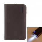 8400mAh Dual-Output Mobile Power Bank for iPhone / Samsung / XiaoMi w/ LED Light - Brown