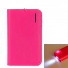 8400mAh Doppel-Ausgang Mobile Power Bank für iPhone / Samsung / XiaoMi w / LED Light - Deep Pink