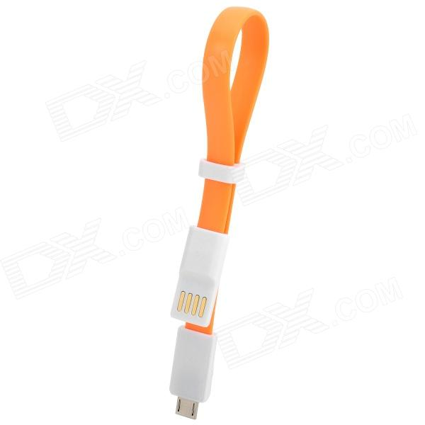 USB to Micro USB Data / Charging Cable - Orange + White