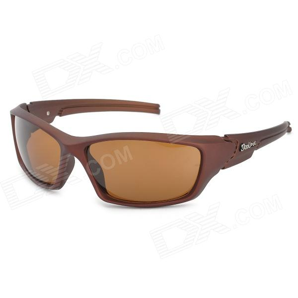 BaoLina 5013 Outdoor Sports UV400 Protection PC Frame Resin Lens Sunglasses for Men - Coffee