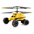 ATTOP YD922 4-Channel Mars Warship IR Helicopter w/ Air Flight, Landslide, Fire Missiles - Black