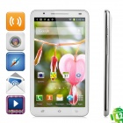 "U89 Android 4.2 WCDMA Quad-Core Bar Phone w/ 6.0"" Screen, Wi-Fi, RAM 1GB and ROM 4GB - White"