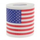 Novelty America Flag Pattern Toilet Paper 3-Layer Roll Tissue - White + Red + Blue