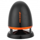 HWDYS-A801 Mini Portable Digital Bullet Style Hi-Fi 2-Channel Speaker - Black + Orange