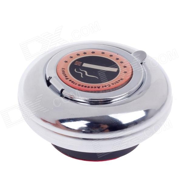 CH-010 Portable Car Stainless Steel Ashtray w/ Magnet - Silver ashtray