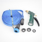 Portable High Pressure Car Washing / Cleaning Gun w/ Hose - Blue