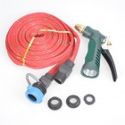 Portable High Pressure Car Washing / Cleaning Gun w/ Hose - Red