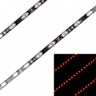 27W 2160lm 700nm 90-SMD 5630 LED Red Light Car Dekoration Streifen-Lampe - Schwarz (90cm / 2 PCS / 12V)