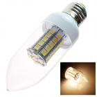 GCD R2 E27 6W 550lm 3500K 47-SMD 5050 LED Warm White Candle Lamp Bulb - White (AC 220~240V)