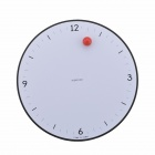 Creative Fashionable Dot Magnetic Clock - White + Black + Red (1 x AA)