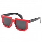 CARSHIRO 77267 Fashion Retro Style UV400 Protection Grey Resin Lens Sunglasses - Red + Black