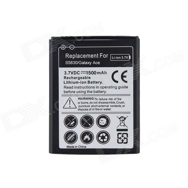 Rechargeable Replacement 1500mAh Lithium Battery for Samsung Galaxy Ace / S5830