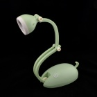 Rechargeable 1.4W 180lm 5000K 3-LED Magic Flashlight Touch Lamp - Green + White (US Plug)